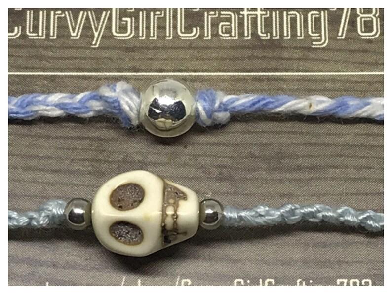 Dia de Los Muertos woven bracelet duo