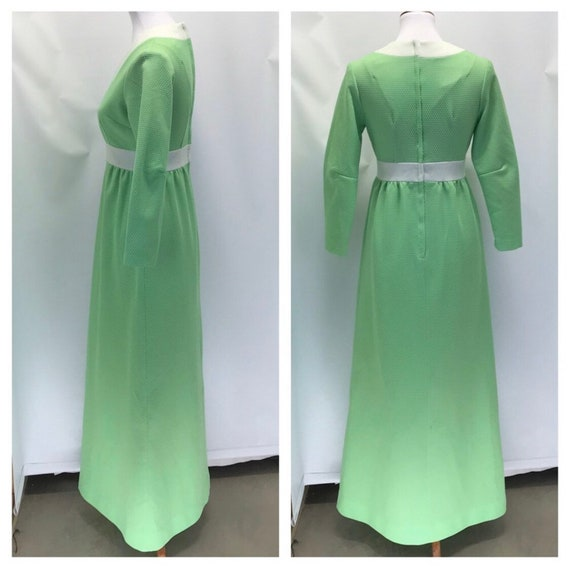 Vintage 1960's long sleeve maxi dress- size 8 - image 5