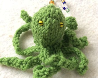 Octopus keychain, backpack pet, octo backpack charm, backpack charm, animal keychain, knit octopus, hand knit octopus, amigurumi octo, fob
