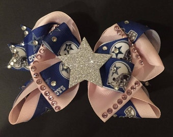 4ae55790b Dallas Cowboys Hair Bow - NFL Football Hair Bow - cowboys bow - cowboys - dallas  cowboys - sports team bow - football bow - dallas