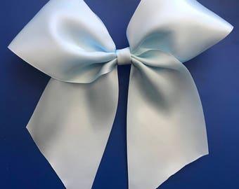 Ariel inspired satin bow - kiss the girl bow - ariel bow - cosplay - cosplay bow - bow for cosplay - ariel bow - disney bow - ariel