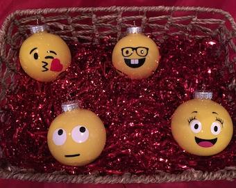 Christmas Emoji Ornaments