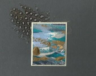 Mini kunst kaarten - Winter x 3