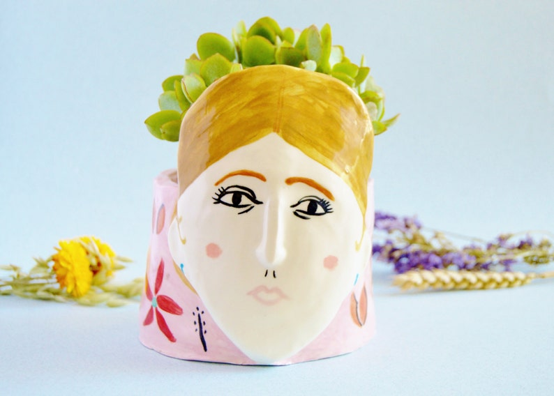 Virginia Woolf ceramic vase Porcelain vase Ceramic face image 0