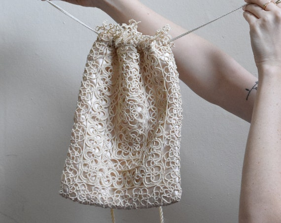 Vintage Crochet Evening Bag.