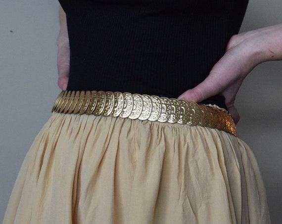 Gold Coin Elastic Belt