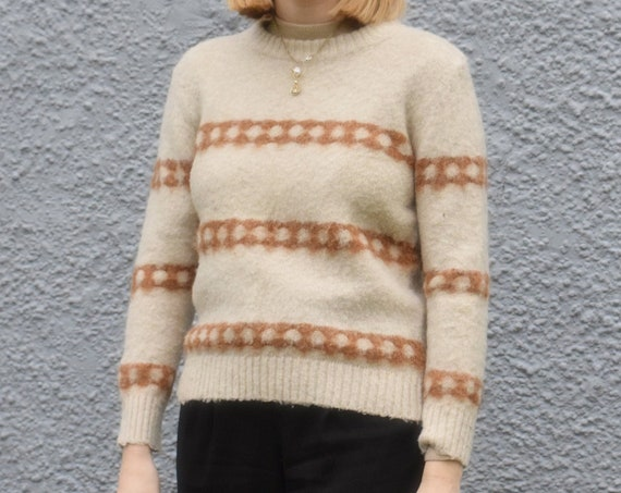 Terracotta Striped Wool Sweater