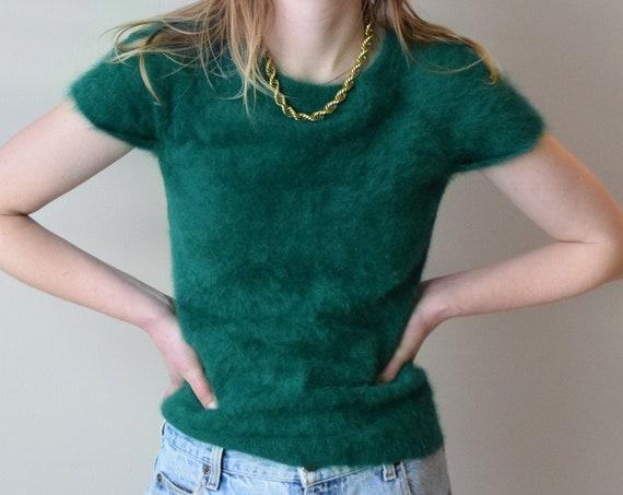 Emerald Green Angora Tee