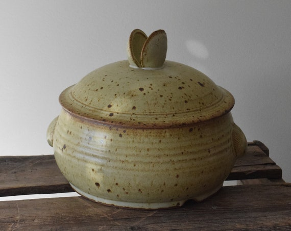 Vintage Stoneware Clam Steaming Pot