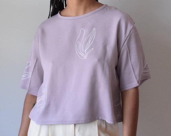 Lilac Tilda Tee  |  Print Optional