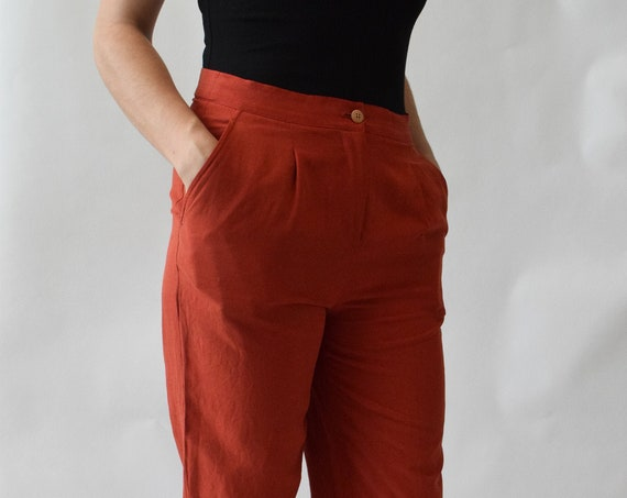 Brick Silk Highwaist Pant