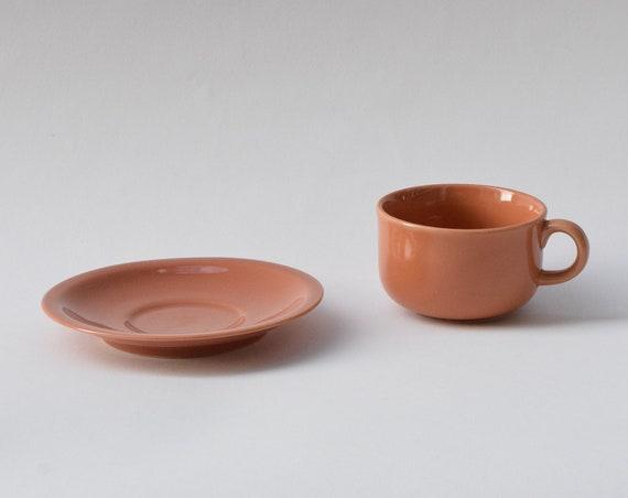 Rust Cup & Saucer Set.