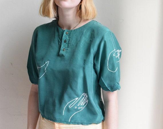 Paloma Jade Silk Top