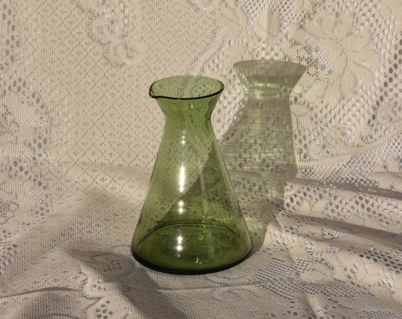 Olive Glass Carafe