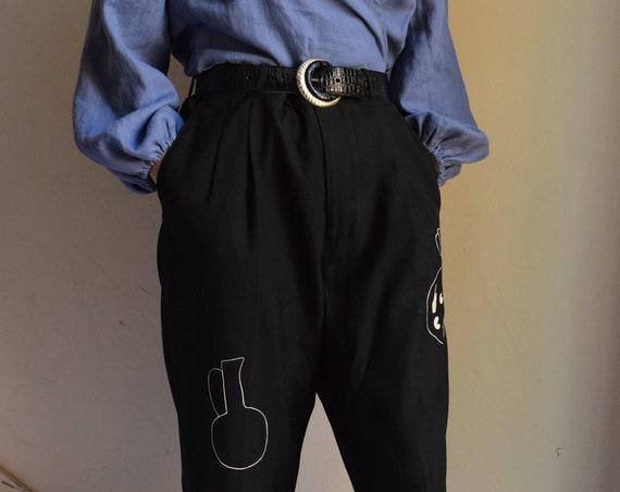 Dark Grey Daia Pleated Trouser