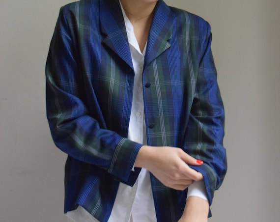 Navy and Forrest Green Clueless Blazer