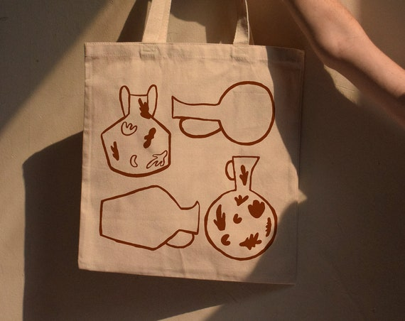 Daia Cotton Canvas Tote Bag     Multiple Color Options
