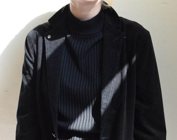 Black Courdroy Blazer