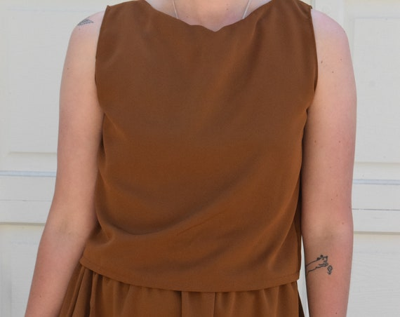 Santos Walnut Square Tank Top & Skirt