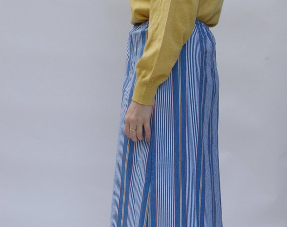 Striped French Blue Skirt