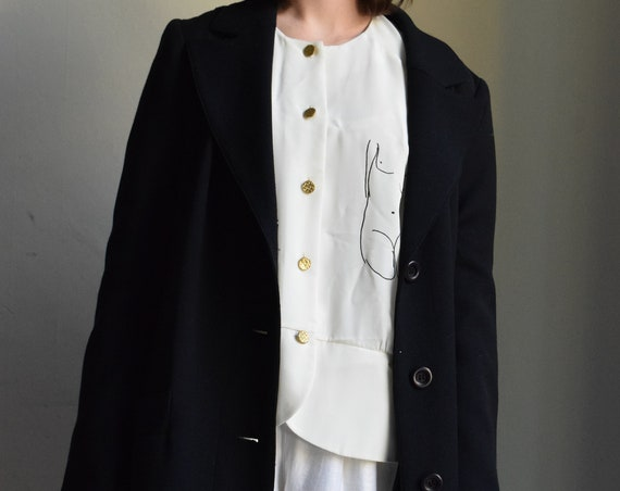 Navy Floor length Trench Coat