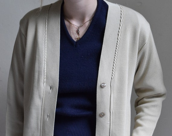 Ginger Ribbed Wool Blend Cardigan