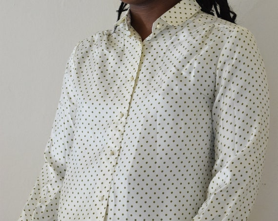 Moss Green Polka Dot Long Sleeve Shirt
