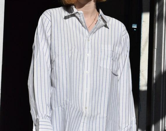 Pinstripe Button-Up Shirt