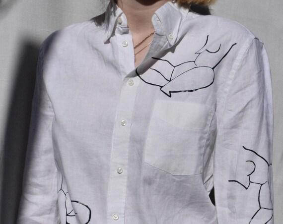 White Linen Moira Shirt