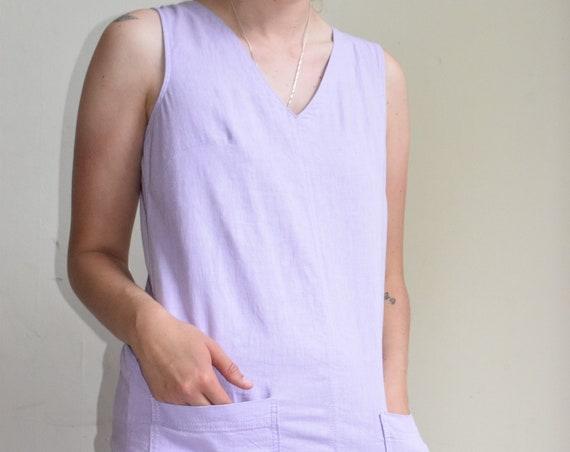 Lavender Sleeveless Dress | Print Optional