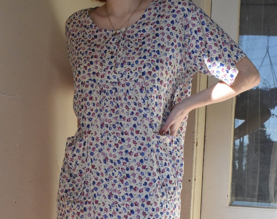 Periwinkle Floral Pocket Dress