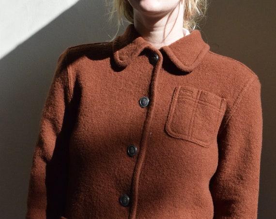 Rust Wool Coat