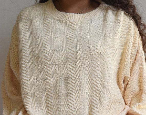 Oversized Pale Yellow Cotton Sweater