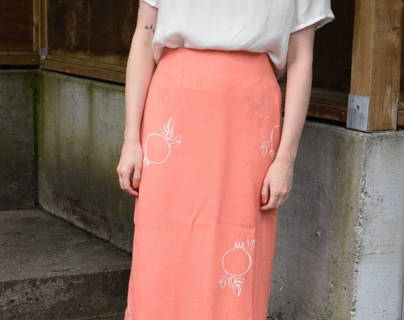 Rodie Coral Pencil Skirt.