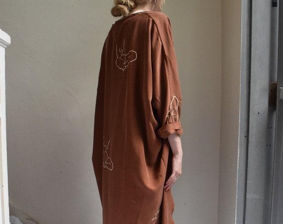 Terracotta Tencel Cocoon Kimono  |  Print Optional