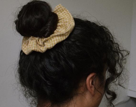 Avocado Gingham Hair Scrunchies     Add-on Item
