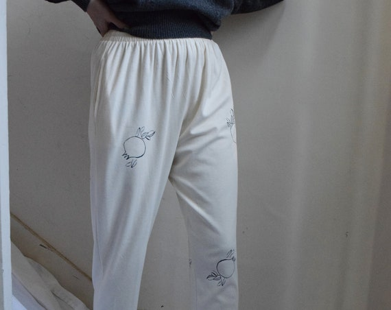 Rodie Cream Cotton Jersey Lounge Pant.