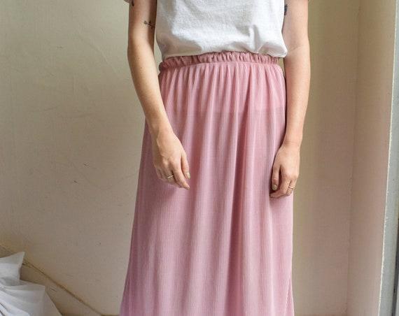 Pink Plisse Pleat Skirt