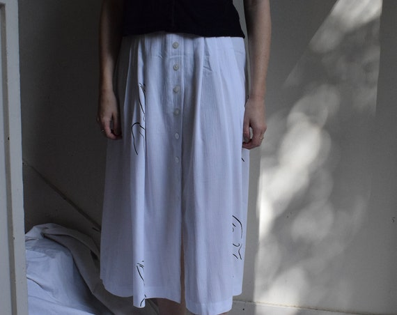 White Meridian Woman Buttoned Skirt