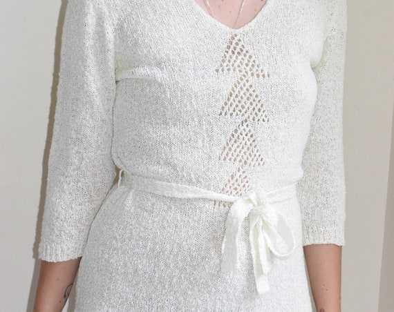 Rino Rossi Eggshell Sweater Dress