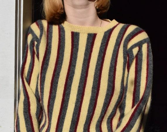 Tri-Striped Wool Sweater