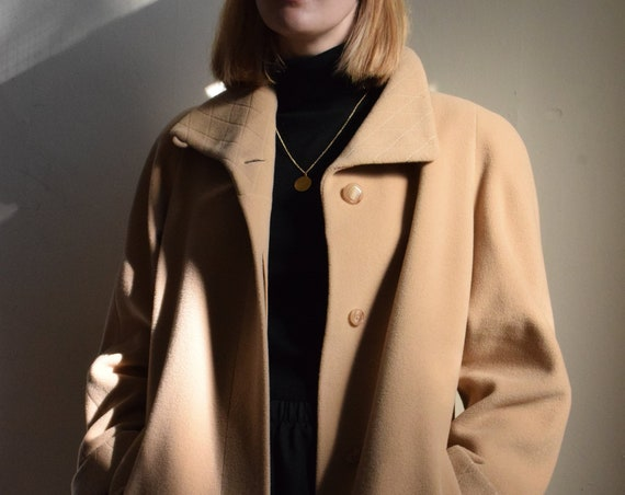 Camel Cashmere Wool Trench