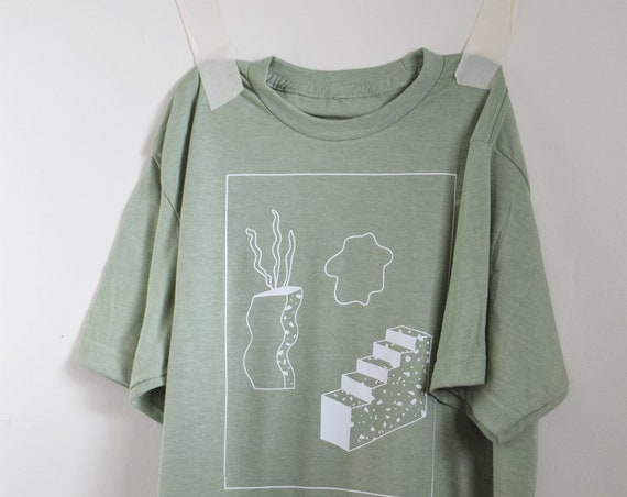 Kida Power Washed Sage Green Tee.