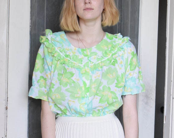 Floral Resew Ruffle Top