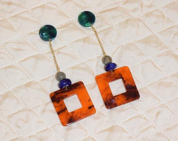 Pendulum Acetate Earrings.