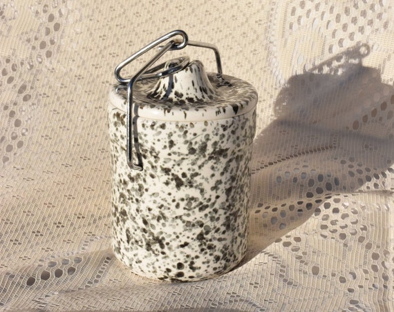 Speckled Charcoal Ceramic Kitchen Canister