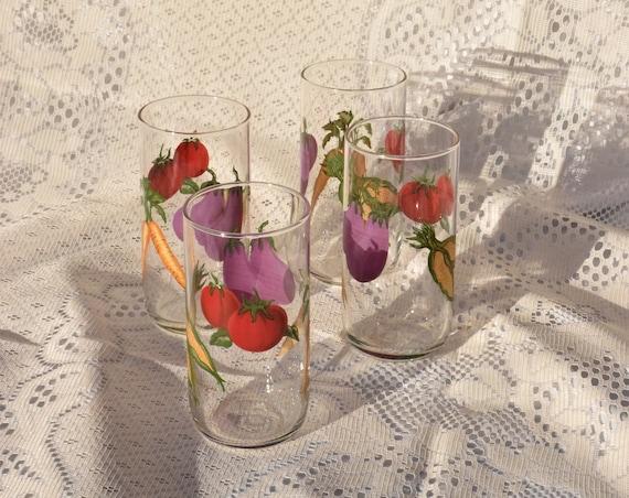 Vegetable Drinking Glass Set.