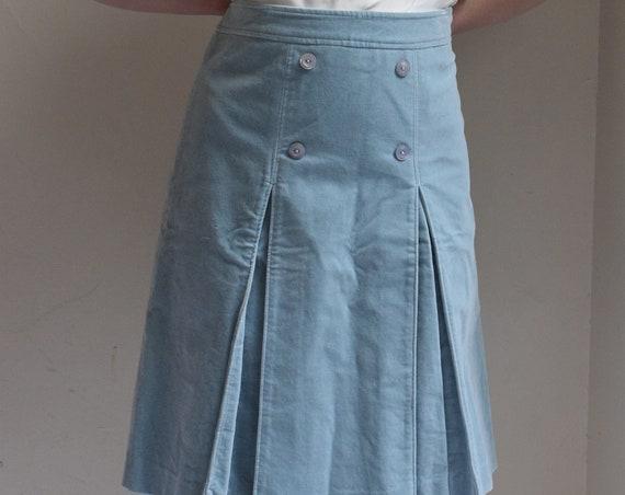 Sky Blue Cotton Skirt