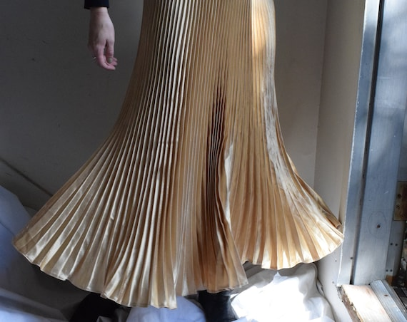 Gold Pleated Party Skirt