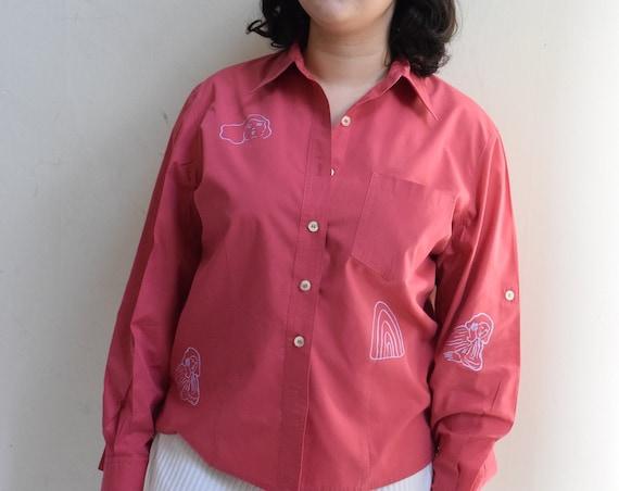 Raspberry Sola Long Sleeve Shirt
